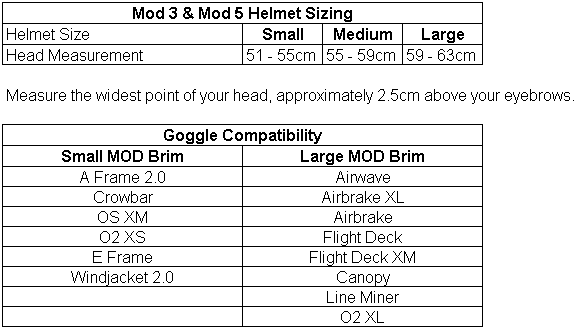 bbe1dc49fae2 Oakley Helmet Size Chart « Heritage Malta