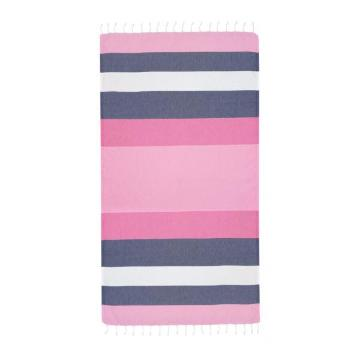 Hammamas 20 Splice Beach Towel - Pink/Navy