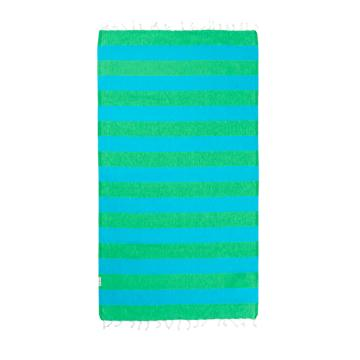 Hammamas Bold Beach Towel - Aqua/Lime