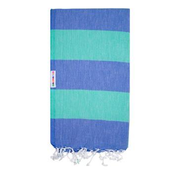 Hammamas Bold Beach Towel - Spearmint/Azure