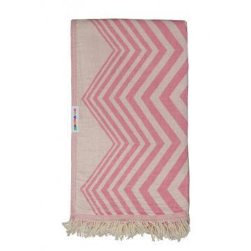 Hammamas Chevron Beach Towel - Pink