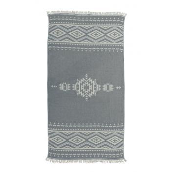 Hammamas Aztec Beach Towel - Ash