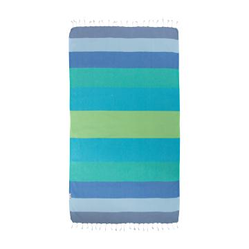 Hammamas Splice Beach Towel - Blue/Green