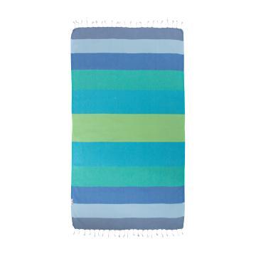 Hammamas Splice Beach Towel - Blue/Green