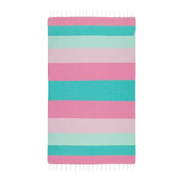 Hammamas Splice Beach Towel - Mint/Pink