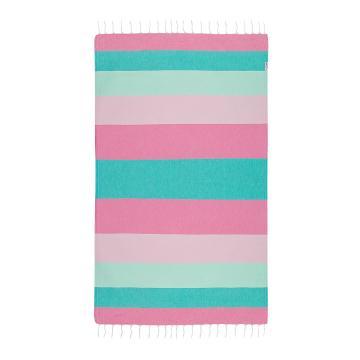 Hammamas Splice Beach Towel - Mint/Pink