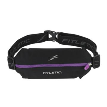 Fitletic Mini Sport Belt with Pouch - Blk/Pur Zip