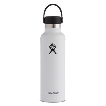 Hydro Flask Vacuum Insulated  Bottle 621ml - White