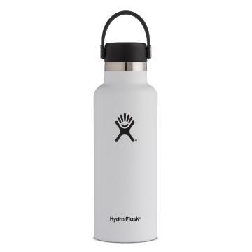 Hydro Flask Vacuum Insulated  Bottle 532ml - White