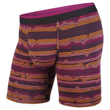 Bn3th Men's Classic Boxer Breifs - Warp Stripe/Purple