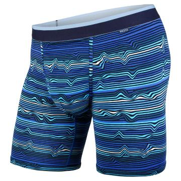 Bn3th Men's Classic Boxer Briefs - Warp Stripe/Blue