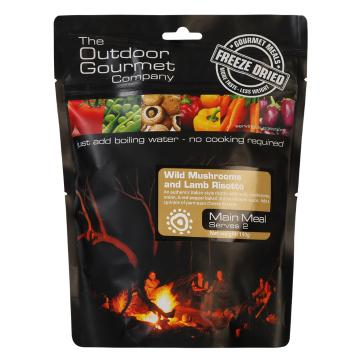 The Outdoor Gourmet Company Two Serve Meal - Wild Mushroom & Lamb Risotto