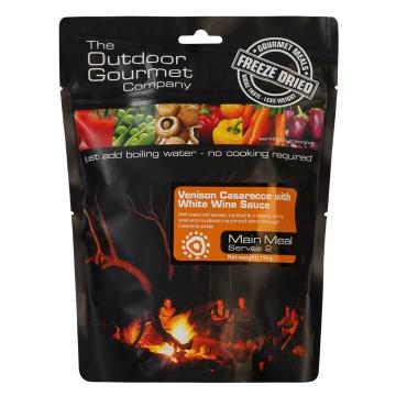 The Outdoor Gourmet Company Two Serve Meal - Venison Casarecce