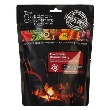 The Outdoor Gourmet Company Two Serve Meal - Thai Green Chicken Curry