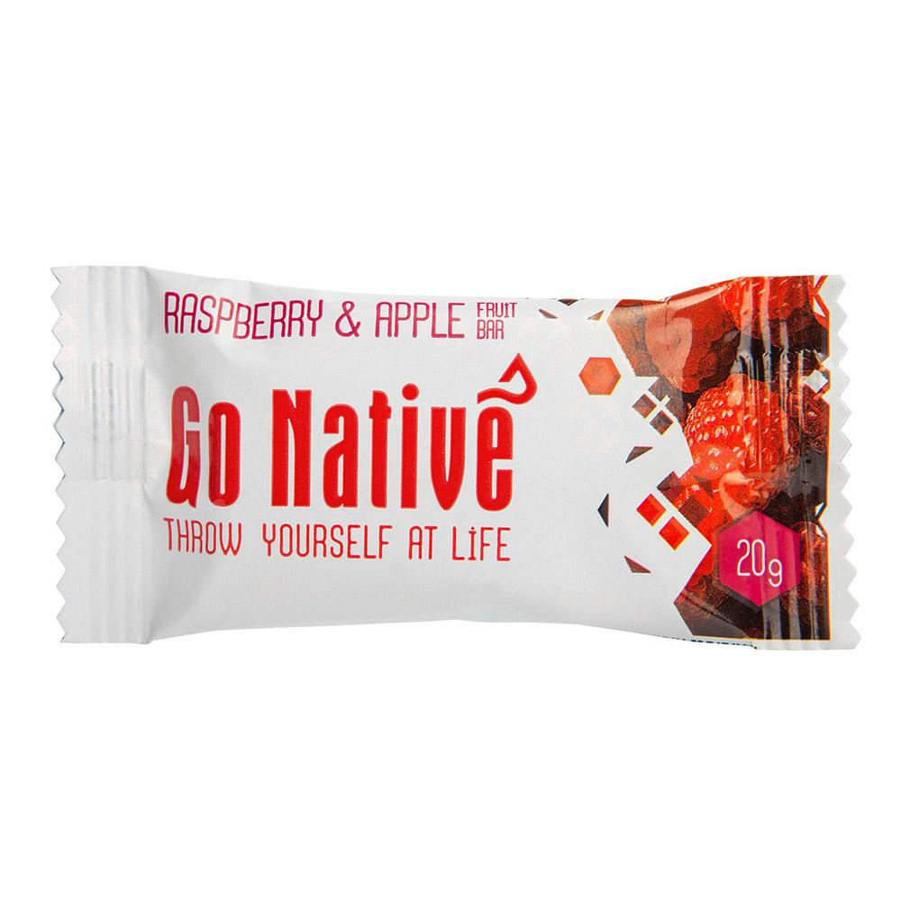 Go Native Raspberry & Apple Fruit Bar - 20g