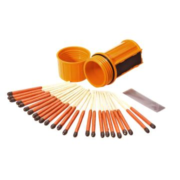 UCO Match Container With 25 Matches - Orange