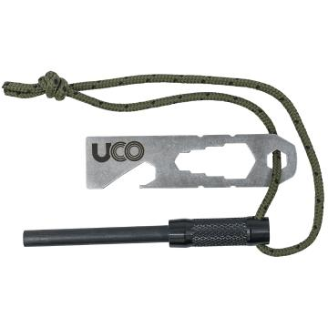 UCO Fire Steel Survival Kit with Tether - Red