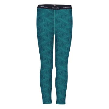 Icebreaker Youth 200 Oasis Legging Curve - Kingfisher/ARCTIC TEAL