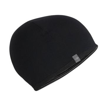 Icebreaker Kids Pocket Hat - Black/Snow/Black