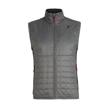 Icebreaker Men's Helix Vest - TIMBERWOLF/Black