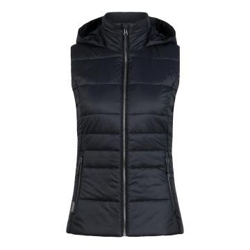 Icebreaker Women's Stratus X Hooded Vest - Black/Jet HTHR