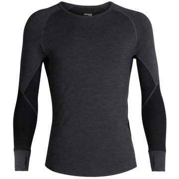 Icebreaker Men's 260 Zone Long Sleeve Crewe - Jet HTHR/Black