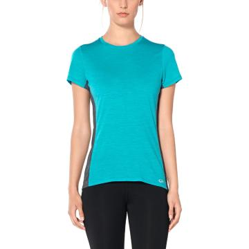Icebreaker Women's Amplify Short Sleeve Low Crewe