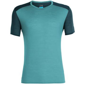 Icebreaker Men's Amplify Short Sleeve Crewe - BLUE SPRUCE/NIGHTFALL