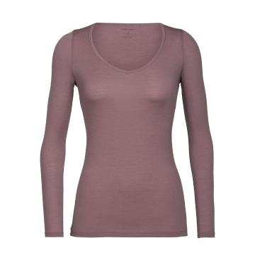 Icebreaker Women's Siren Long Sleeve Sweetheart Top - Suede