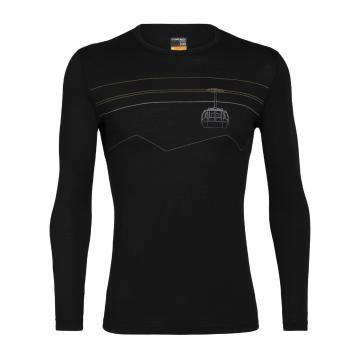 Icebreaker Men's 200 Oasis Long Sleeve Crew - Black
