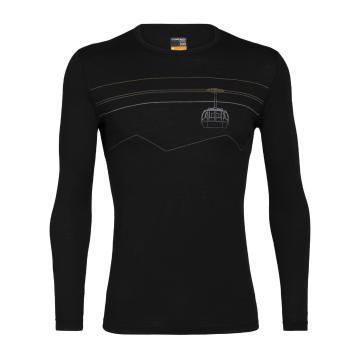 Icebreaker Men's 200 Oasis Long Sleeve Crew - Black
