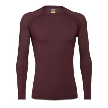 Icebreaker Men's 200 Zone Seamless Long Sleeve Crewe  - Redwood