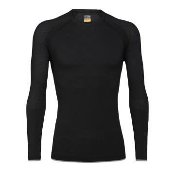 Icebreaker Men's 200 Zone Seamless Long Sleeve Crewe - Black