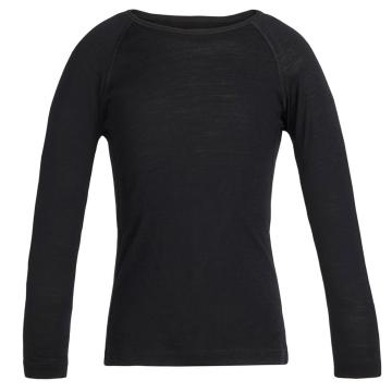 Icebreaker Kid's 200 Oasis Long Sleeve Crew - Black