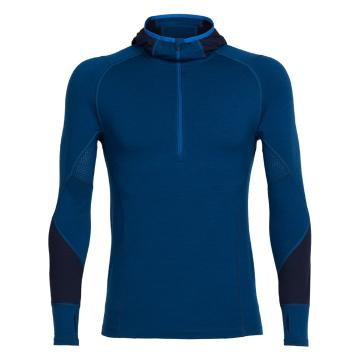 Icebreaker Merino Men's Winter Zone Long Sleeve Half Zip Hoodie