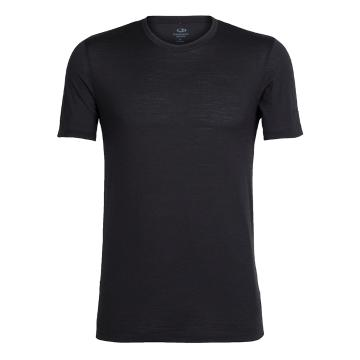 Icebreaker Merino Men's Tech Lite Short Sleeve Crewe - Black