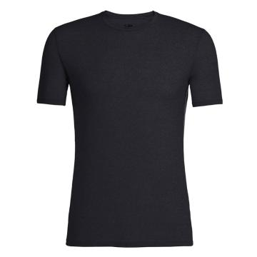 Icebreaker Merino Men's Anatomica Short Sleeve Crewe - Black/Monsoon