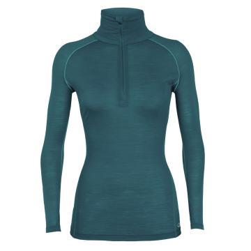 Icebreaker Women's Zeal Long Sleeve Half Zip - Kingfisher/ARCTIC TEAL