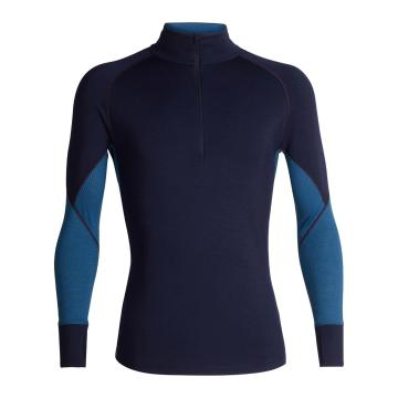 Icebreaker Men's 260 Zone Long Sleeve Half Zip - Midnight Navy/PRUSSIAN BLUE