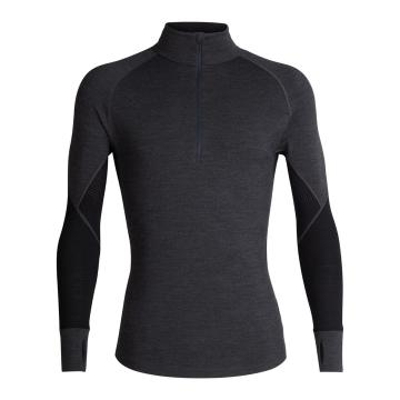 Icebreaker Men's 260 Zone Long Sleeve Half Zip - Jet HTHR/Black/Mineral