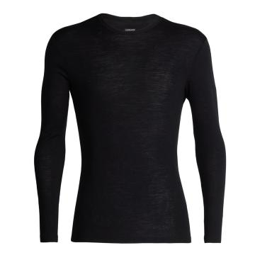 Icebreaker Men's 175 Everyday Long Sleeve Crew - Black