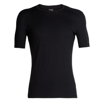 Icebreaker Men's 200 Oasis Short Sleeve Crew - Black