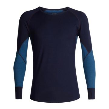 Icebreaker Men's 260 Zone Long Sleeve Crew - Midnight Navy/PRUSSIAN BLUE