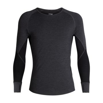 Icebreaker Men's 260 Zone Long Sleeve Crew - Jet HTHR/Black/Mineral