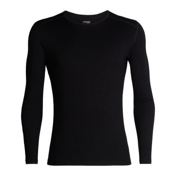 Icebreaker Men's 260 Tech Long Sleeve Crew - Black