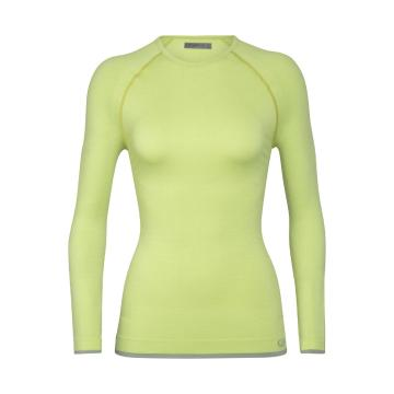 Icebreaker Women's 200 Zone Seamless Long Sleeve Crewe - Aloe