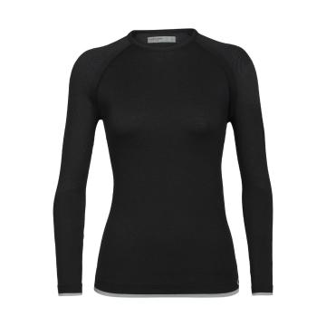 Icebreaker Women's 200 Zone Seamless Long Sleeve Crewe - Black
