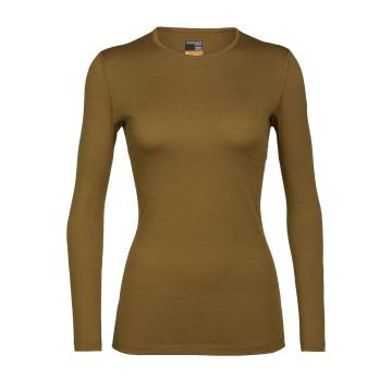 Icebreaker Women's 200 Oasis Long Sleeve Crewe - Curry