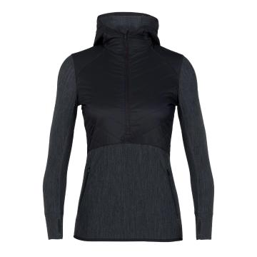 Icebreaker Women's Descender Hybrid Long Sleeve Half Zip Hoodie