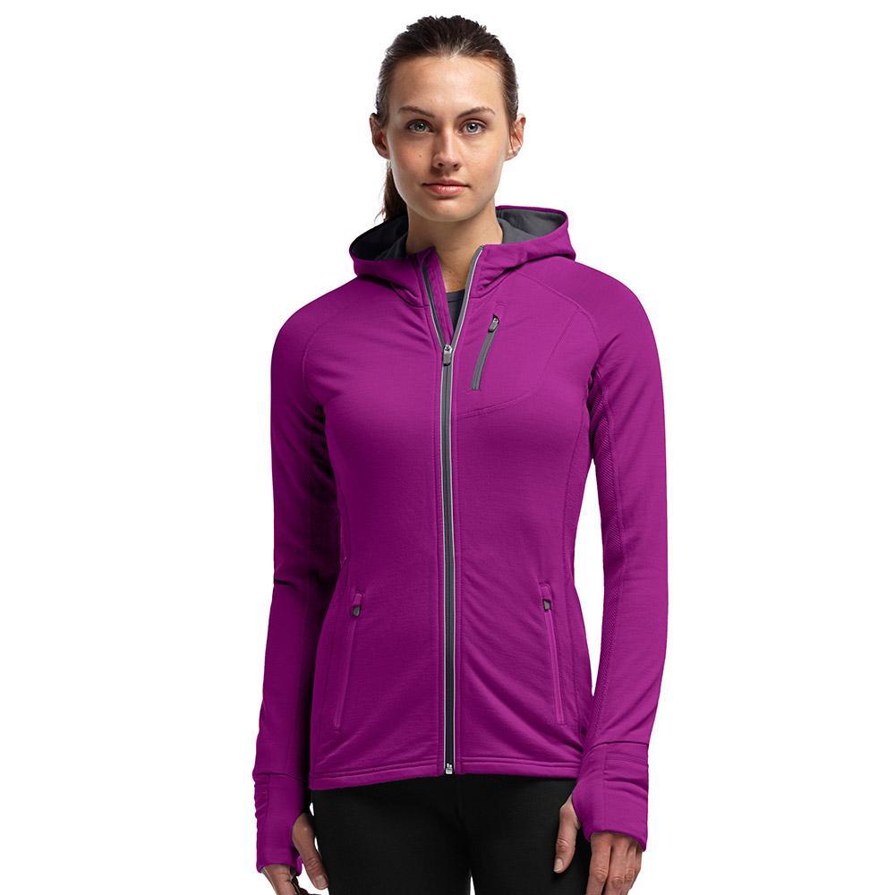 0b206145f1 ICEBREAKER Merino Women's Quantum Long Sleeve Zip Hood | Merino ...
